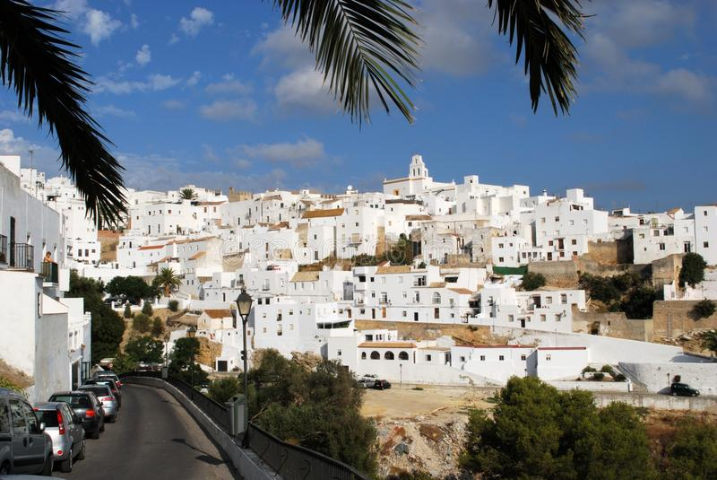 White village, Vejer de la Fronter. stock photo