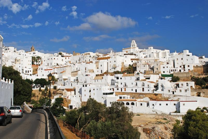 White village, Vejer de la Fronter. stock photos