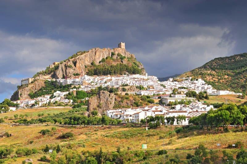White Village of Zahara de la Sierra Cadiz Andalusia Spain.  royalty free stock image