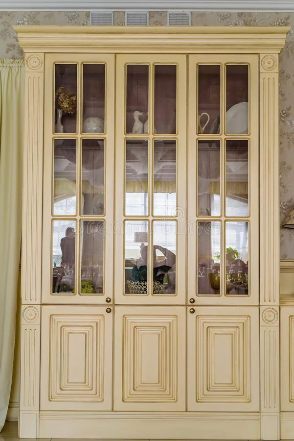 White Vintage Cupboard Stock Photo Image Of Armoire 91954244