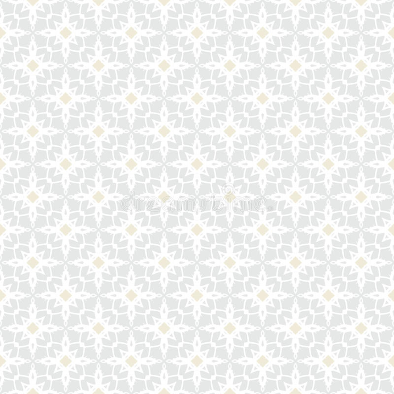 White vintage geometric texture in art deco style. White and silver geometric texture in art deco style with abstract stars and golden dots for Christmas and vector illustration
