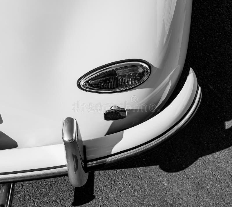 A white vintage Porsche sports car royalty free stock image