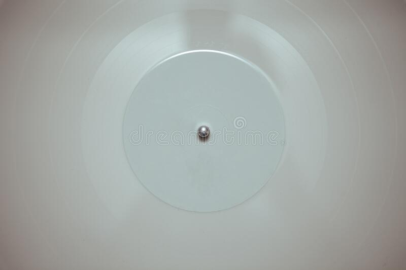 White vinyl record royalty free stock photography