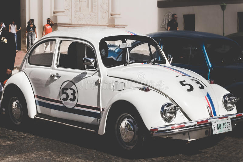 White Volkswagen Beetle On Road Free Public Domain Cc0 Image