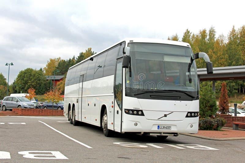 White Volvo Bus stock photos