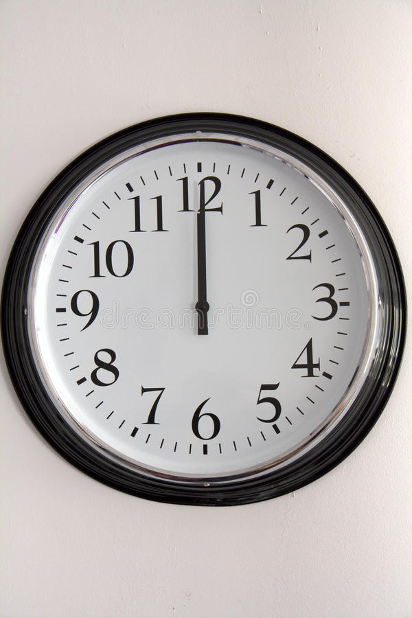 Download White Wall Clock Royalty Free Stock Photos - Image: 19114108