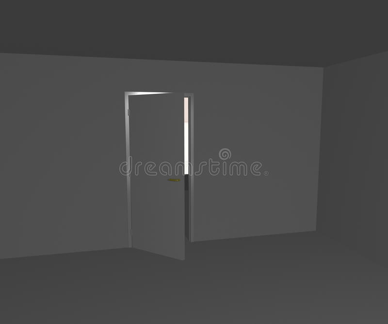White Wall and Doors stock illustration