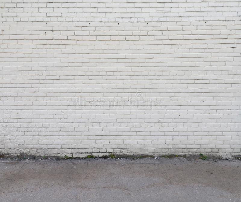 White wall and floor. stock images