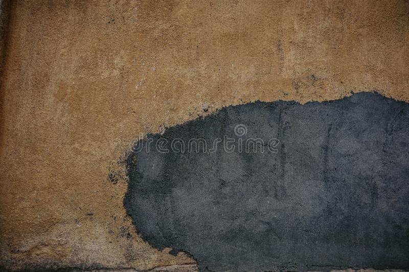 White wall with half of the plaster fallen off royalty free stock photos
