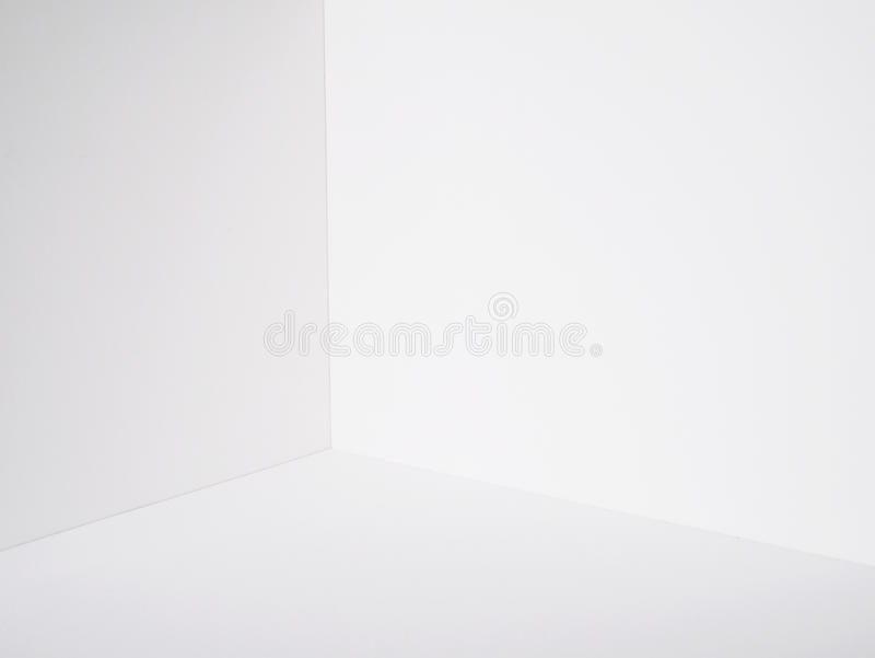 White wall room corner paper box model cutting royalty free stock photo