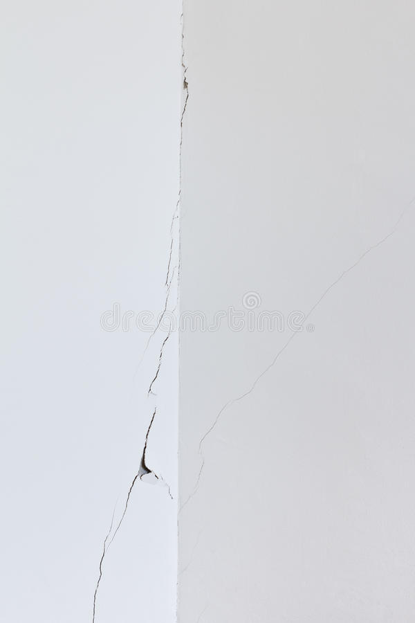 White wall room crack rip stock photography