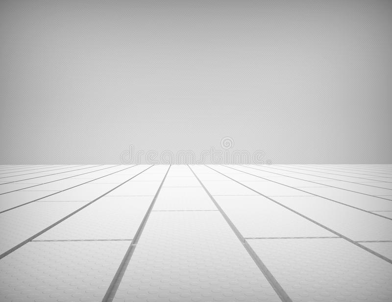 White wall and wood floor. 3d concept royalty free stock photos