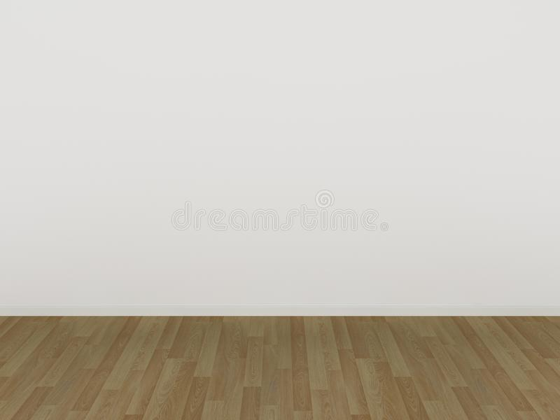 White Wall And Wood Floor3d Stock Illustration Illustration Of