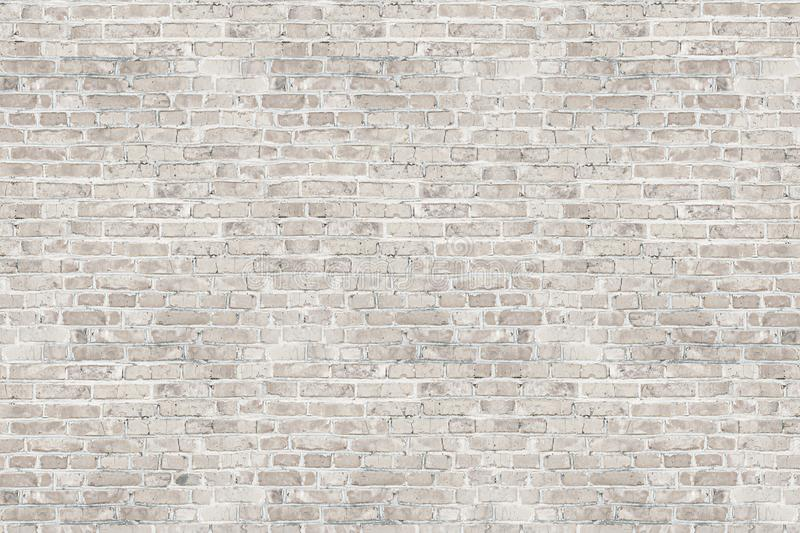 White wash brick wall texture for design. stock image