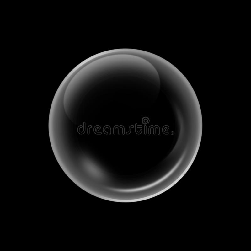 White water bubbles with reflection background. vector illustration