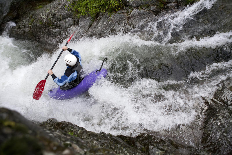 White Water Canoeing Royalty Free Stock Images