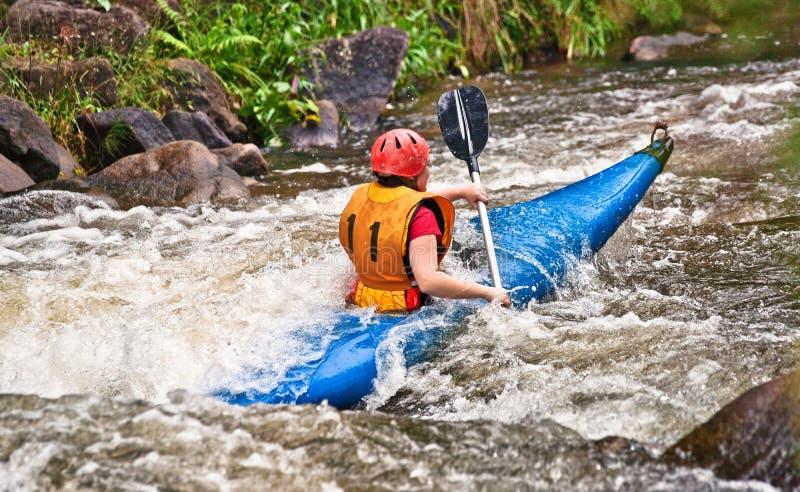 White water kayaking stock photography