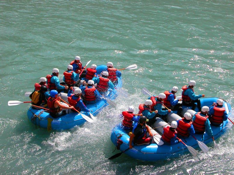 White water rafting stock image