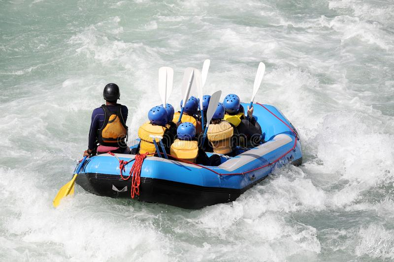 White water rafting on the rapids of river. Yosino in Koboke Canyon, Japan. Yosino River is one of the most popular among rafters in Japan stock photos