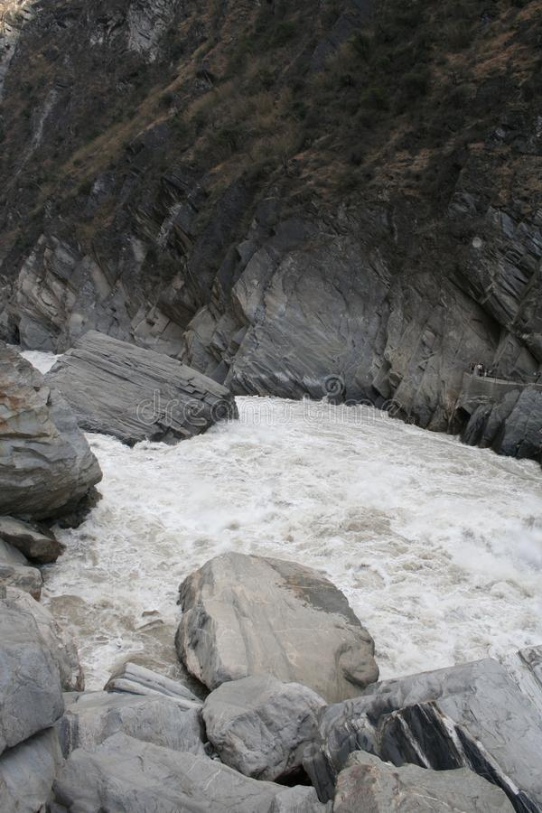 white water rapids at Tiger leaping Gorge stock photos