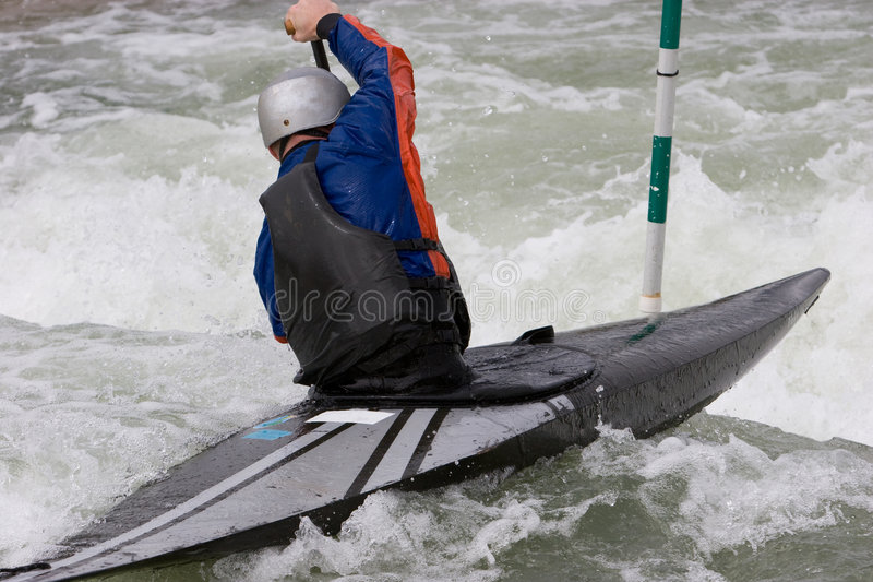 Download White Water Slalom stock photo. Image of jacket, kayak - 2718244