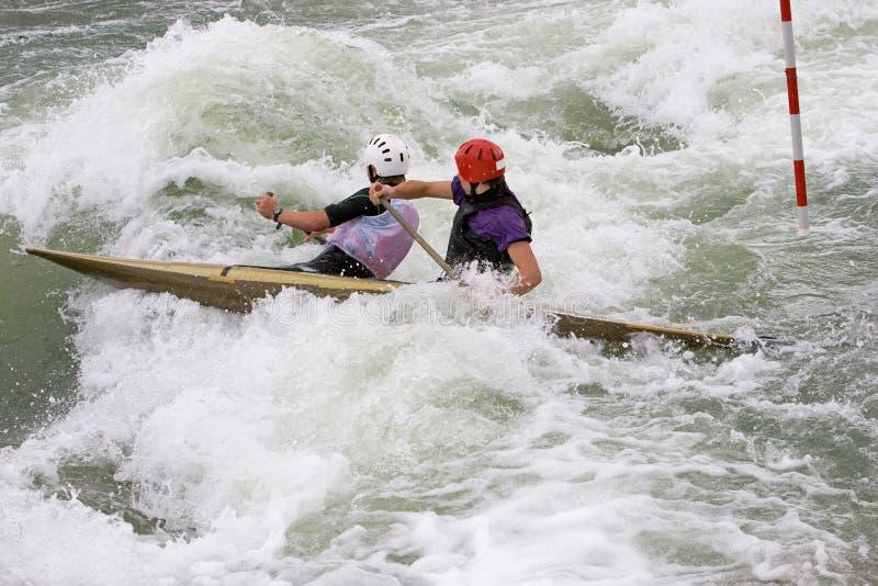White Water Slalom stock image
