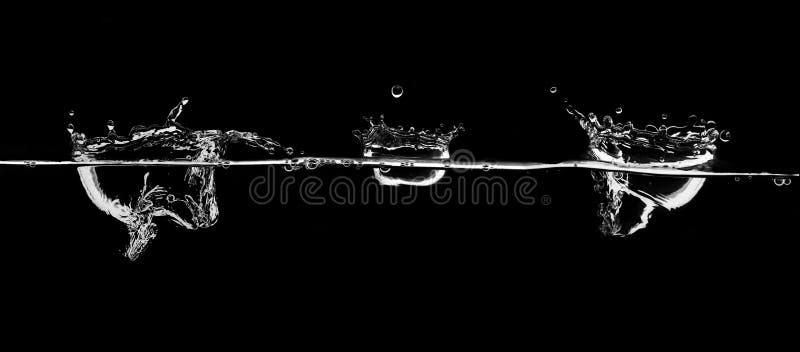 White water splash. Pouring water, blue water splash stock image