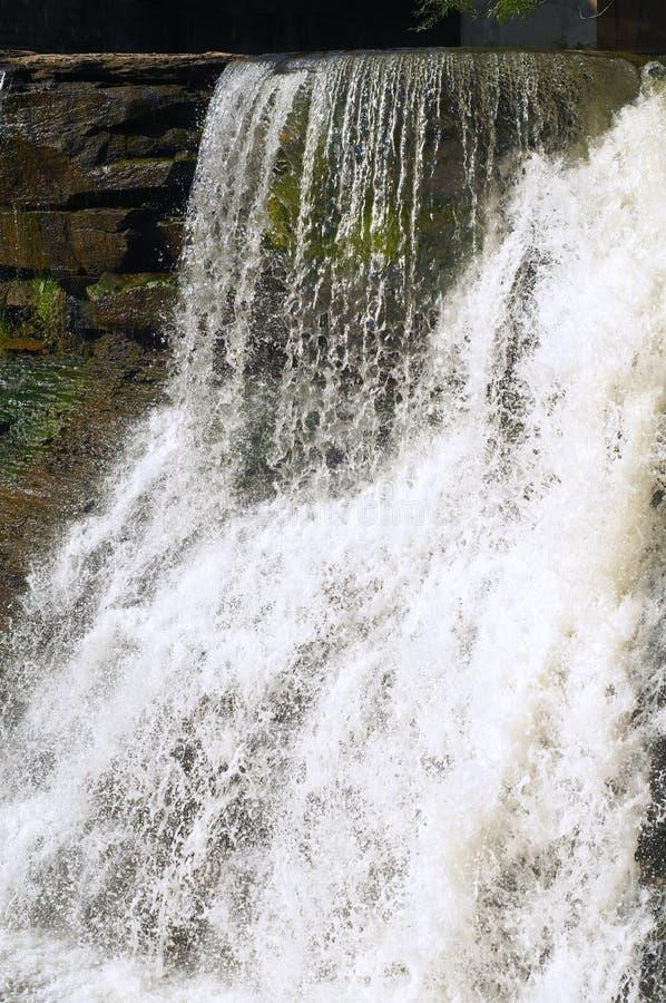 White Waterfall Stock Photo