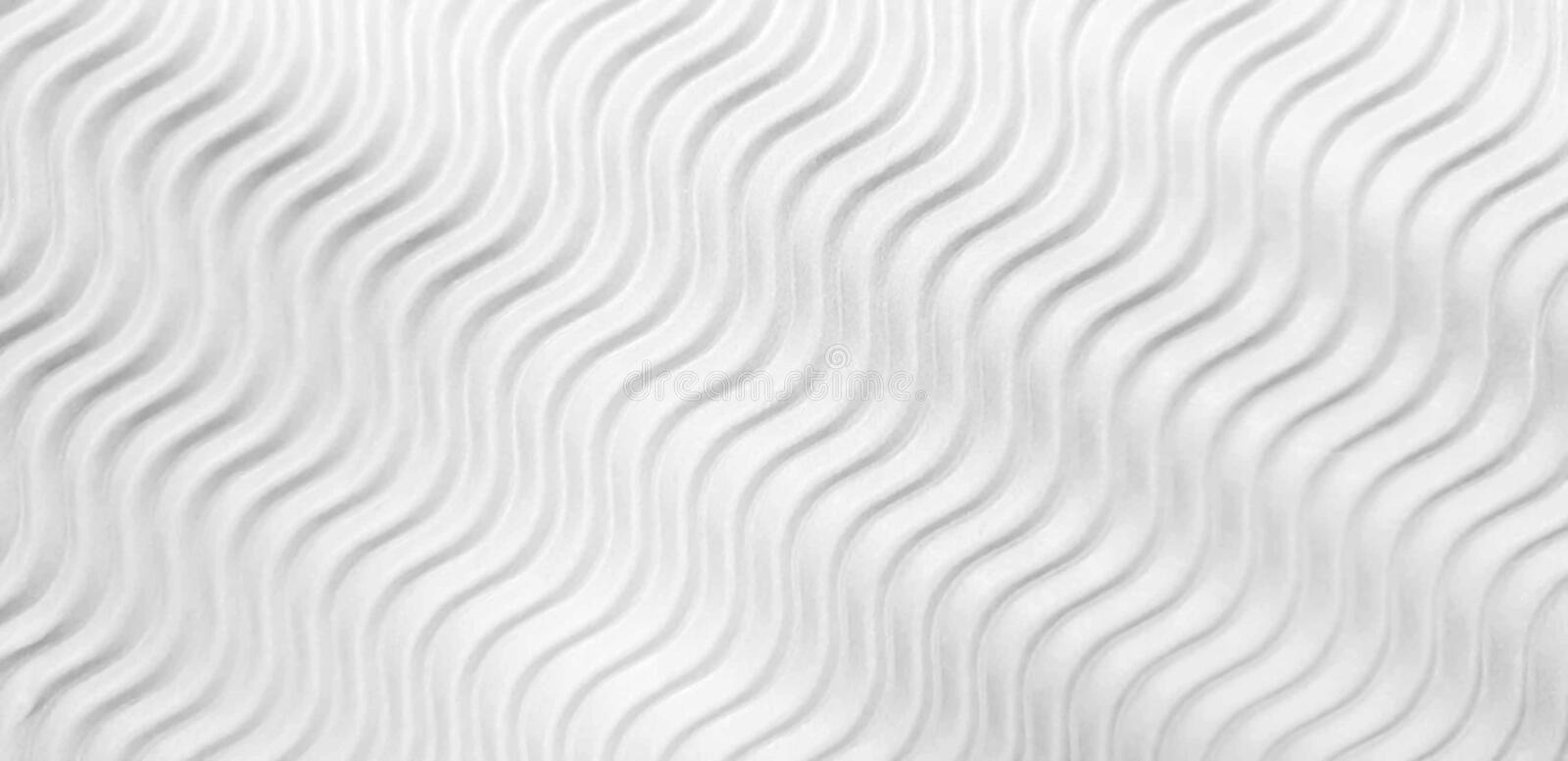 White wave Corrugated Cardboard. Texture background vector illustration