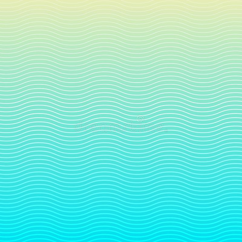 White wave lines pattern on blue background and texture. Liquid wavy stripes and rough surface. Vector illustration royalty free illustration