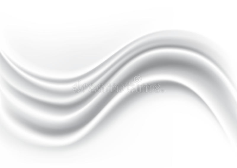White Wave Silk Fabric Abstract Background, Vector Illustration vector illustration