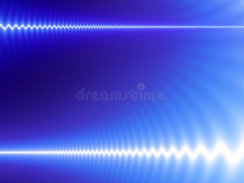 White waves on blue stock illustration