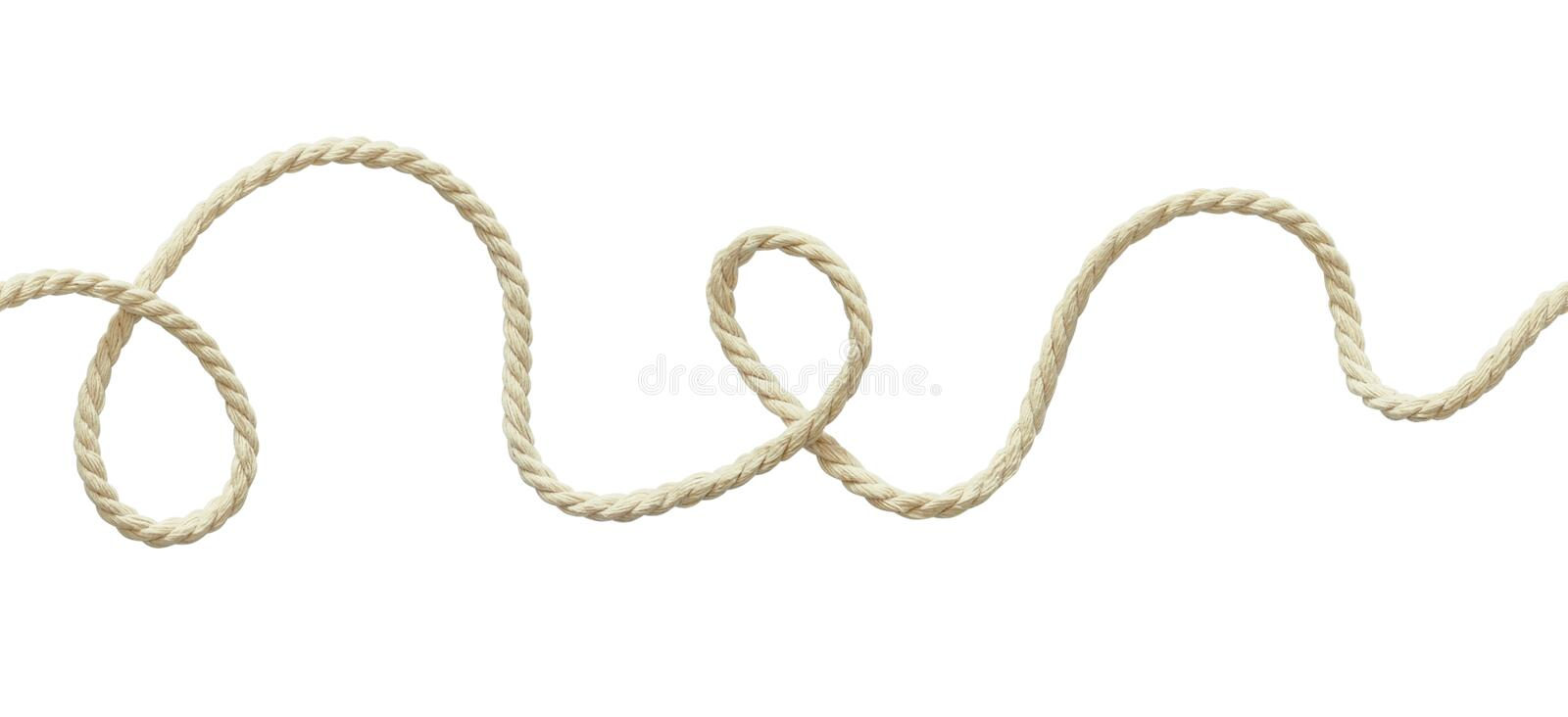 White wavy rope stock photo