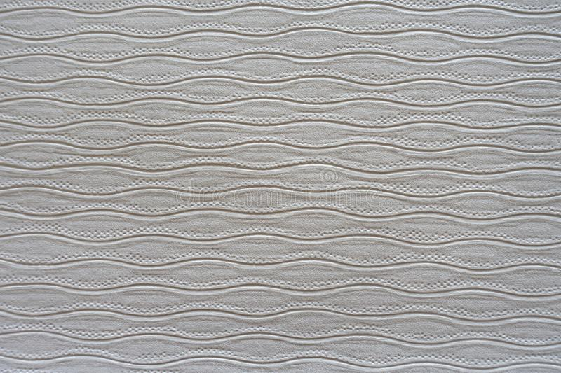 White Wavy Wall Paper Background. White Wavy Embossed WallPaper Background royalty free stock image