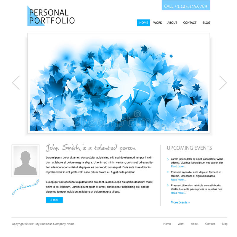 Free White Website Template Stock Photos - 18584673