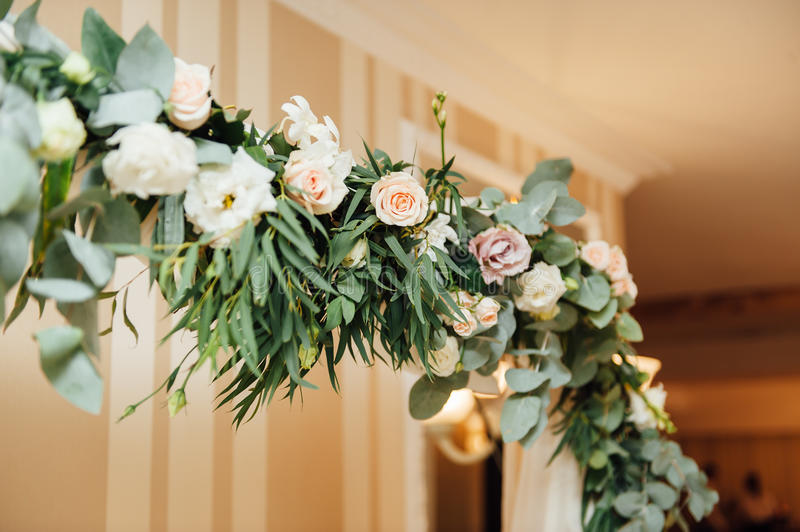 White wedding arch decorated with flower indoor stock photo image download white wedding arch decorated with flower indoor stock photo image of ceremony occasion junglespirit Choice Image