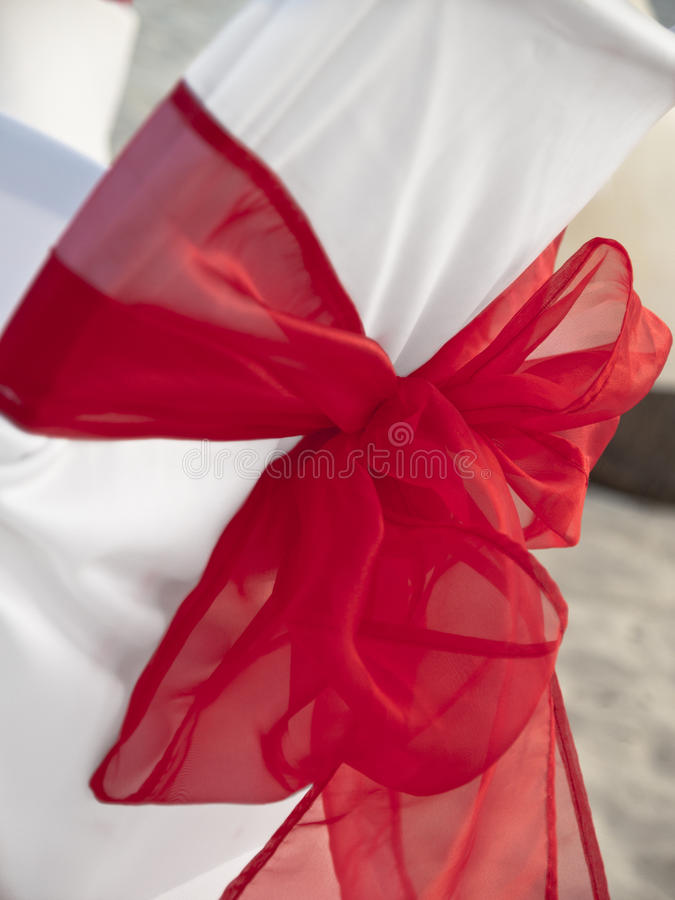 Download White Wedding Chair With Big Bow Tie Stock Image - Image: 23012301