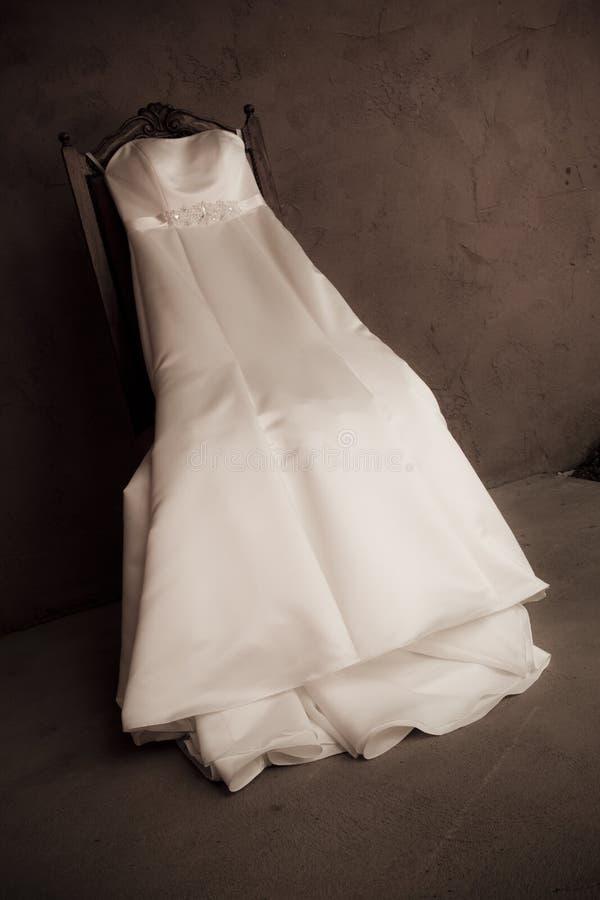 White wedding dress royalty free stock photo