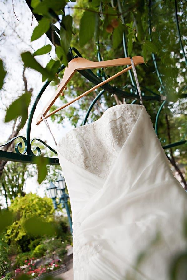 White Wedding Dress Royalty Free Stock Photos