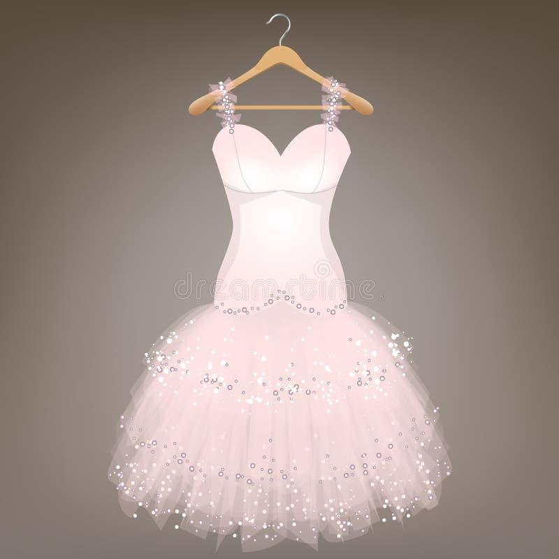 White Wedding Dress stock illustration