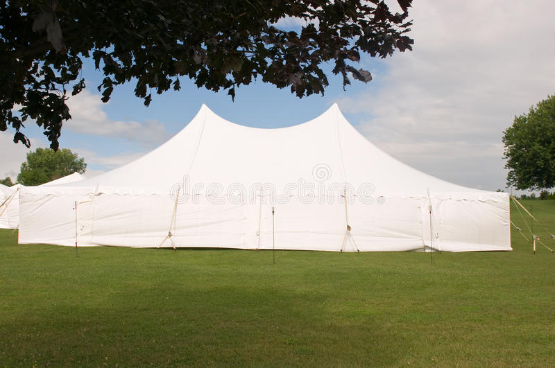 Download White wedding party tent stock image. Image of special - 15388005