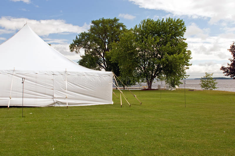 Download White wedding party tent stock image. Image of canvas - 15388017