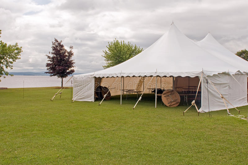 Download White wedding party tent stock image. Image of covering - 15388023