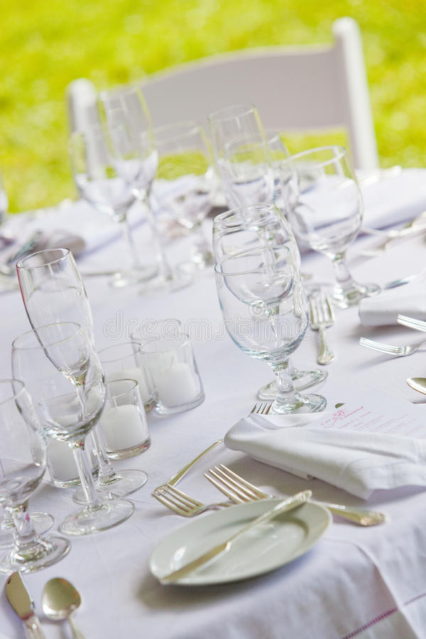 Free White Wedding Table Royalty Free Stock Photo - 24078715
