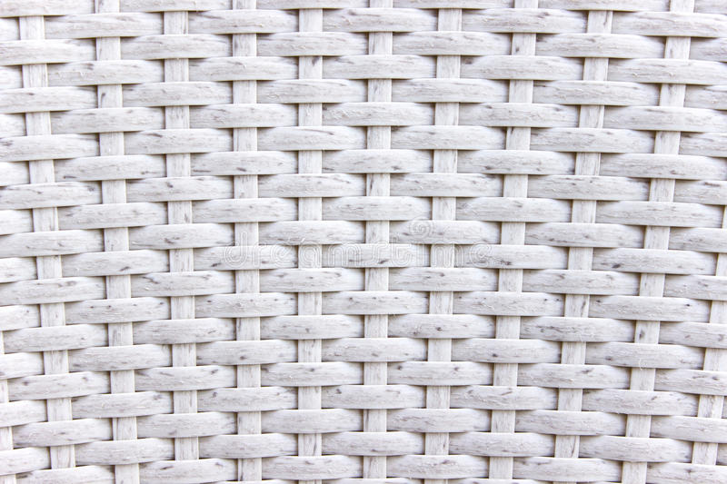 White wicker woven texture. As background stock images