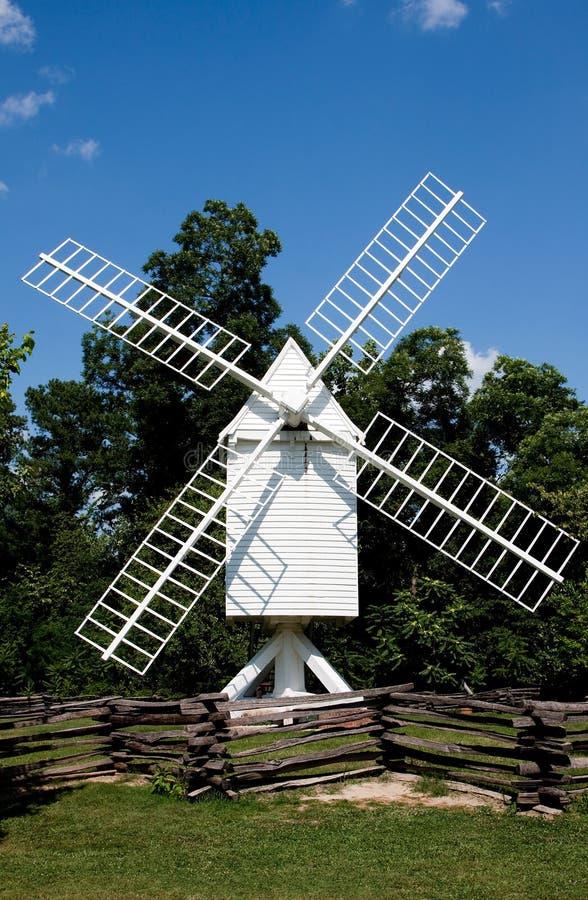 White windmill stock photography