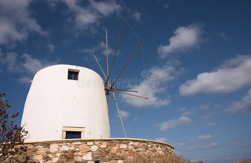 Download White windmill stock image. Image of landscape, silence - 1662177