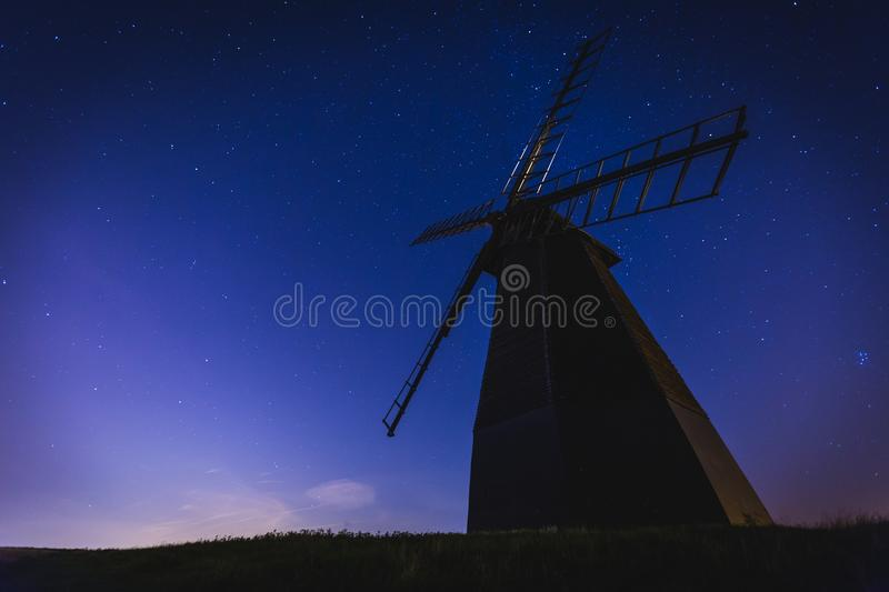 White Windmill In A Low Angle Photography During Nighttime Free Public Domain Cc0 Image