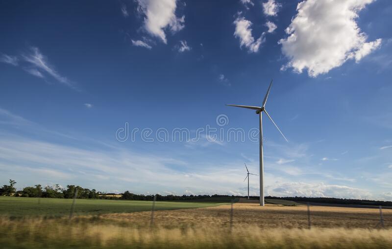 White Windmill Under Blue And White Sky At Daytime Free Public Domain Cc0 Image