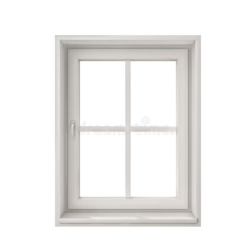 Free White Window Frame Isolated On White Background Stock Photos - 46999623